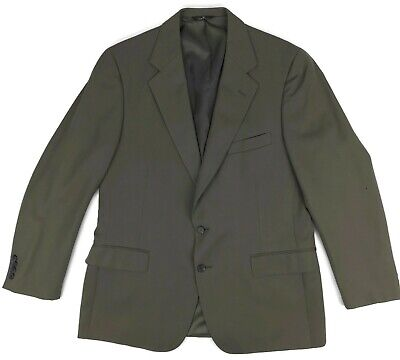 Polo University Club Suit 43R Mens 2 Btn Wool Blazer Jacket Vented Brown Size Sz