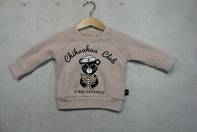 Baby Girl Size 00,0,1,2 Huxbaby Winter Rose Chihuahua Club Jumper NWT