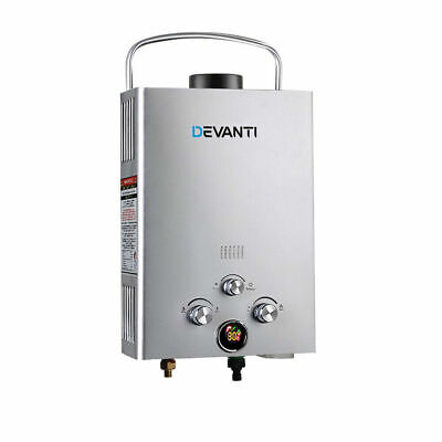 WEISSHORN Portable Gas Hot Water Heater Shower Camping LPG Caravan Outdoor 4WD