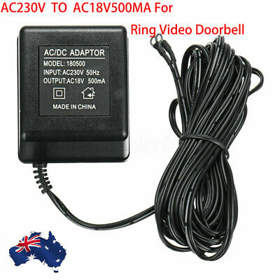 9W 3M AU Plug Power Supply AC Adapter Battery Charger For Ring Video Doorbell