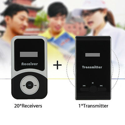 ATG100 Meeting Tourism Tour Guide Wireless System Transmitter+20 Receivers AU!