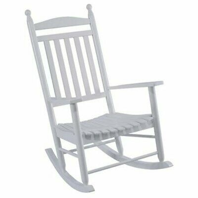 Jack Post Knollwood Collection Patio Porch Rocker, White Hardwood Brand New