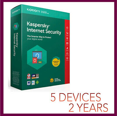Kaspersky Internet Security Antivirus 2019 2020 | 5 PC Device 2 YEAR