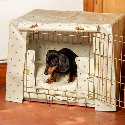 Lords & Labradors Honey Bee Oilcloth Dog Crate Cover