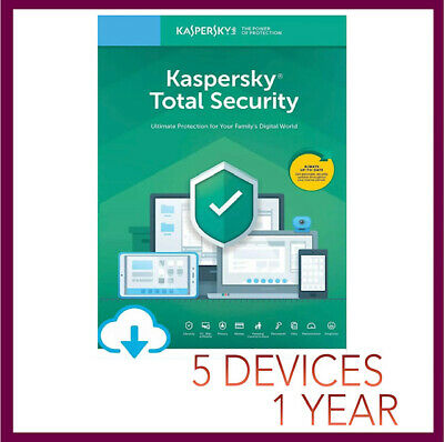 Kaspersky TOTAL Security Antivirus 2019 2020 | 5 PC Device 1 YEAR