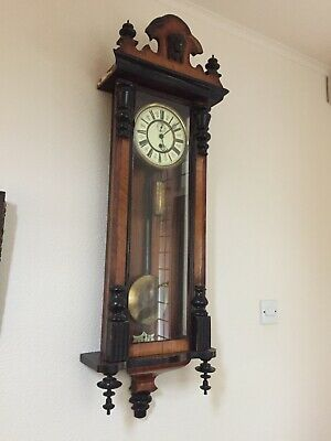 Vienna Regulator Clock - dark wood, not working, good for parts
