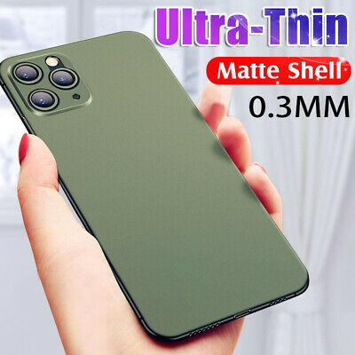Ultra-thin Matte Clear Hard PC Slim Cover Case For i Phone 11 Pro Max X 8 Plus 7
