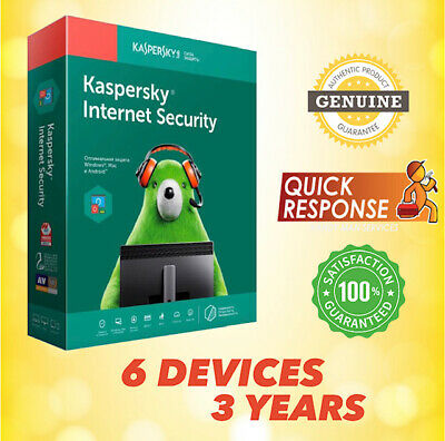 Kaspersky Internet Security 2020 Antivirus - 6 Pc | 3 Year | Win Mac Android