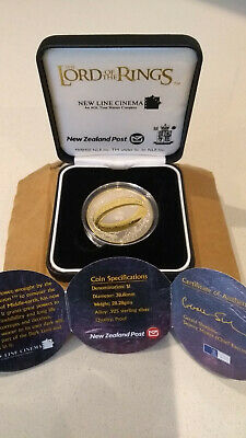 New Zealand Lord of the Rings $1  925 silver proof coin – 2003.  MINT