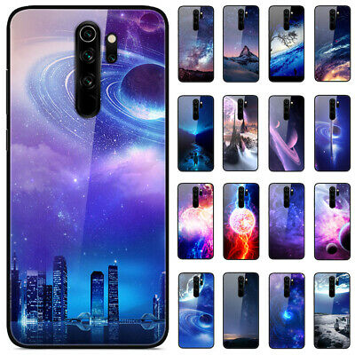 For Xiaomi Redmi 8A 7A Note 8 7 6 Pro Gradient Painted Tempered Glass Case Cover
