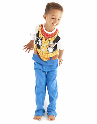 Disney Store Woody PJ Pal Pajama Set Toy Story Boys Sheriff  Size 4 7 8 10  NWT