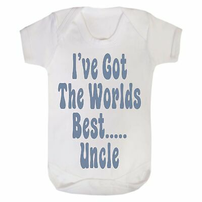 Funny Baby Vest Baby Shower Gift Boys Girls Bodysuit Grow Worlds Best Uncle