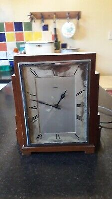 art deco oak electrick clock for restoration