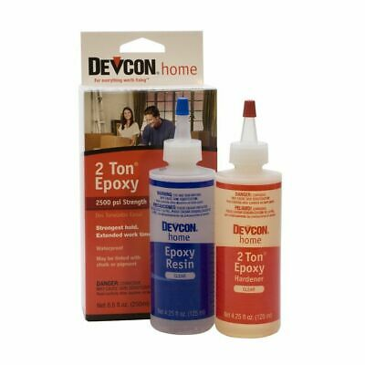Devcon DV33345 Super Strength 2 Ton Waterproof Epoxy Glue 8.5 fl oz 250ml