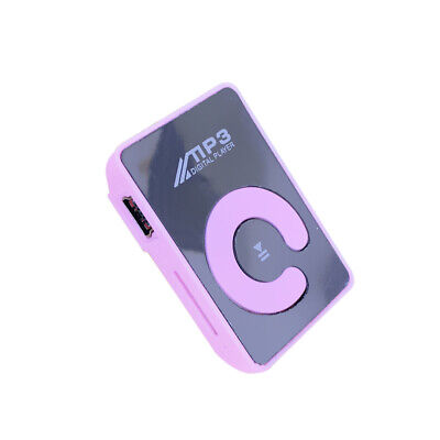 Mini Mirror Clip MP3 Player Portable Fashion Sport USB Digital Music Player U9R8