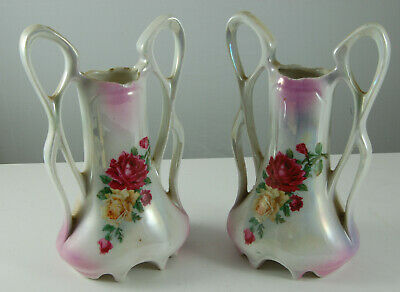 Pair of Lustre Vases with Faults