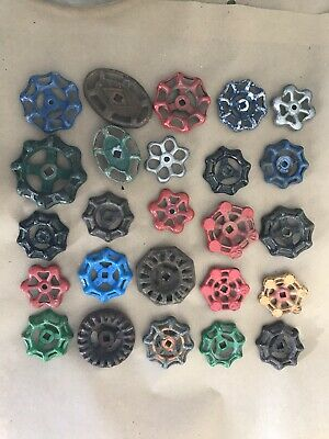 Lot Of 25 Water Valve Faucet Handles Vintage Industrial Steampunk Salvage