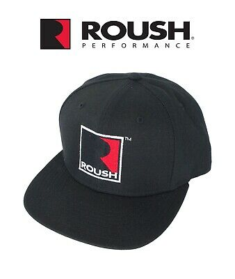Roush Performance 9FIFTY Snapback R Logo Black Flat Bill Adjustable Hat Cap