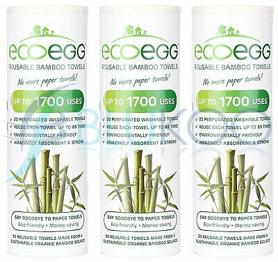 Ecoegg Bamboo Towels - 20 Towels (Pack of 3)