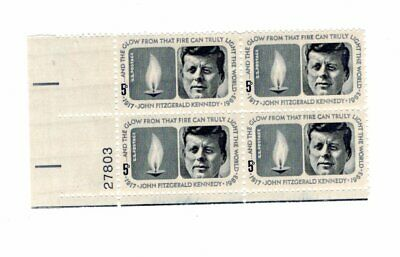 US 1964 JOHN F. KENNEDY Stamps Plate Number Block Unused 27803