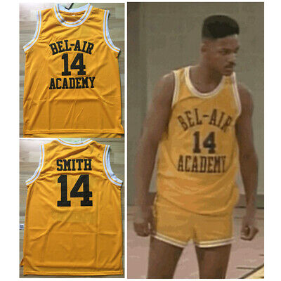 #14 Will Smith The Fresh Prince of Bel-Air Bel Air Academy Jersey Stitched Top