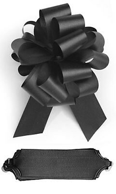 """50 Red Pull Bows 5 ½/"""" 20 Loops Textured Double Sided Satin Gift Wrap Wedding"""