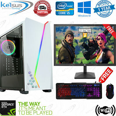 Ultra Fast Gaming PC Computer Bundle Quad Core 16GB RAM 1TB GTX 1650 4GB Win 10