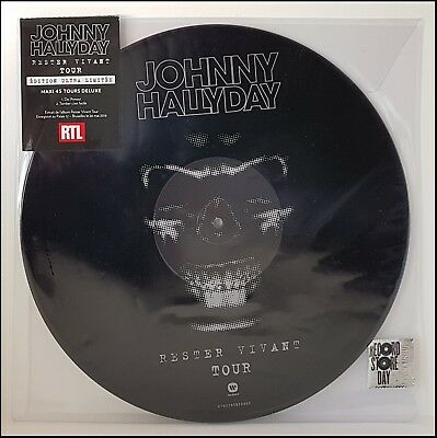 Johnny Hallyday Maxi 45T Picture - Rester Vivant Neuf Sous Blister  Rare