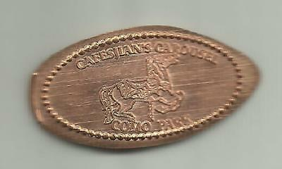 Copper elongated penny (cent) COMO PARK ZOO CAROUSEL St. Paul MN RETIRED DIE #2