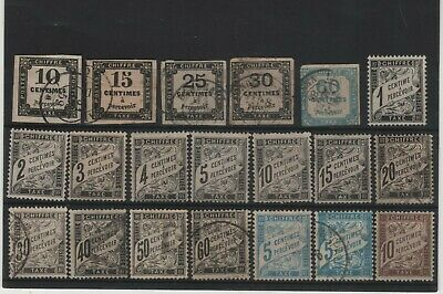 France__Tb Lot De Timbres Taxe + Duval !!!_Neufs* & Obl__N°2-3-4-5-6__Cote 1815€
