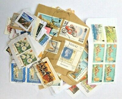1Kg Used Kiloware Charity Collected   Jersey Guernsey I.o.m. Stamps On Paper