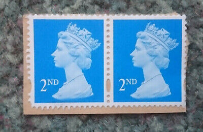 50 x 2nd Class Blue unfranked on paper GB Stamps