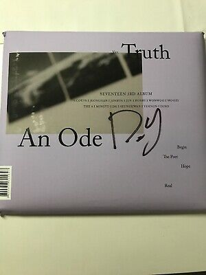 SEVENTEEN DK signed 3rd Album An Ode Truth Ver. With Photocards(Mwave official)
