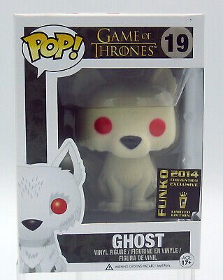 Funko Pop! Game of Thrones Ghost Flocked 2014 Convention Exclusive #19