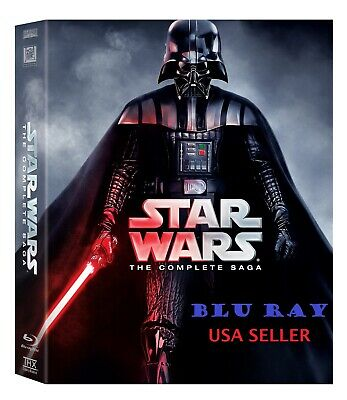 Star Wars: The Complete Saga (Blu-ray Disc, 9-Disc Set, Boxed Set) Blu Ray NEW *