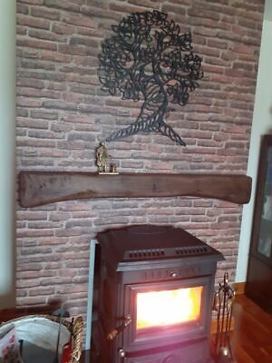 """Arched Fireplace Mantel Beam For Wood Burner, Rustic Oak Beam 4"""" X 8"""""""
