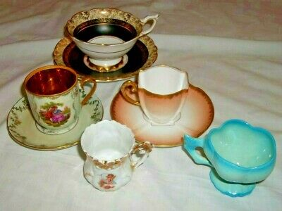 Vintage Lot Of 5 Demitasse Cup And Saucers Tea Cup France Germany England