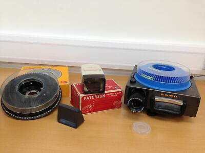 ELMO Omnigraphic 253AF 35mm Slide Projector + Kodak Carousel & Patterson Viewer