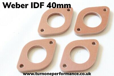 Phenolic Spacer Kit - Reduce Intake Temps! Weber IDF 40mm 4 Spacers