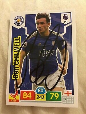 Ben Chilwell Match Attax Premier League 19-20 Card Signed Leicester City
