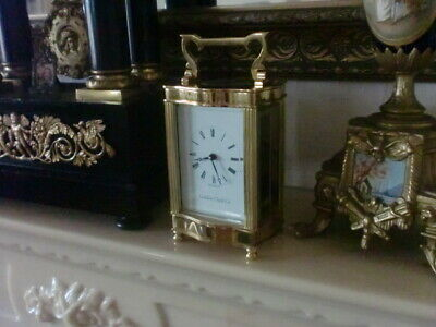 Minted English Carriage Clock By London Clock Co.with Key