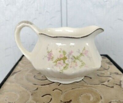 Antique Homer Laughlin Virginia Rose Creamer, RARE ARMAND Speckled Pattern c1948