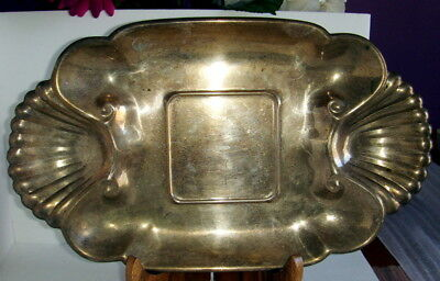 MRR-S English Silver Mfg Corp Silver Plate Shrimp Platter/Tray USA  1