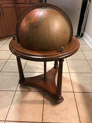 "Vintage 16"" Library World Replogle Globe with Walnut Stand by  Brandt"