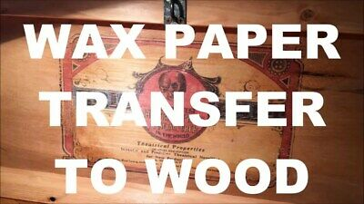 wax paper wood ink transfer 200 sheets arts & crafts candles fabric designs