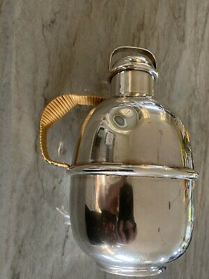 Tiffany & Co Sterling Silver Glass Insulated Thermal Pitcher 2.25 pt E Monogram