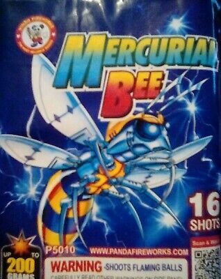 Mercurial BEE 16s VINTAGE Collectible Firework Labels 200 grm LARGE CAKE LABEL
