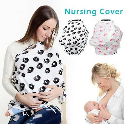 Breastfeeding Baby Nursing Cover Infant Stroller Car Seat Scarf Seat Canopy AU