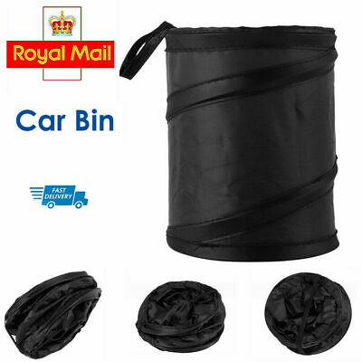 2 x Portable Collapsible Car Van Caravan Trash Can Pop-up Trash Bin Hanging Bag