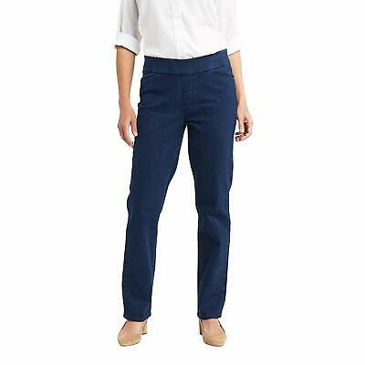 Chic Classic Collection Women's Easy Fit Elastic Waist Pant, Starlight, 6 Petite